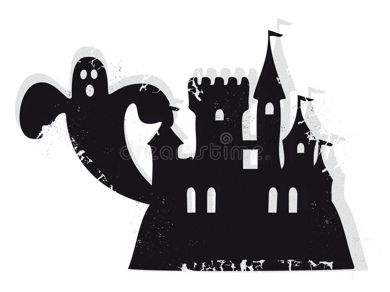 Haunted castle vector royalty free stock photography