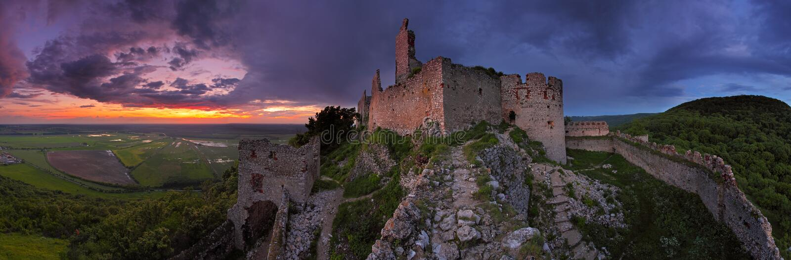 Download Haunted Castle - Panoramic View Royalty Free Stock Images - Image: 14556039