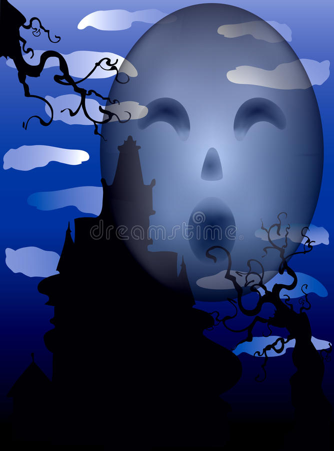 Download Haunted Ghost Mansion stock vector. Illustration of flyer - 21574438