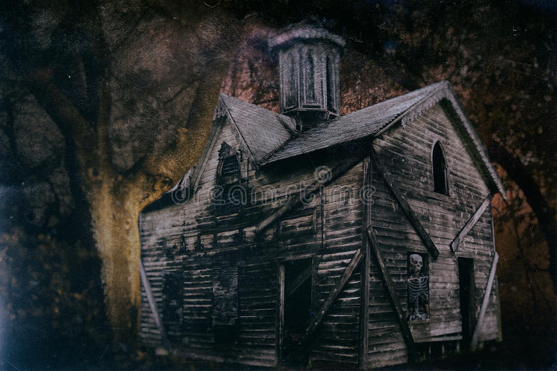 Haunted Halloween House 1 royalty free stock photography
