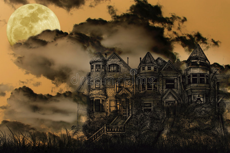 Download Haunted Halloween Mansion Stock Photo - Image: 3264640