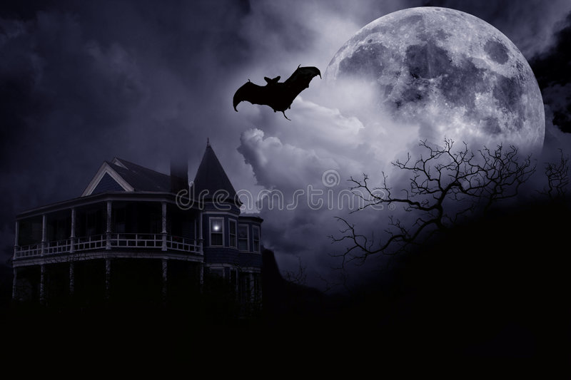 Haunted Halloween Mansion royalty free stock image