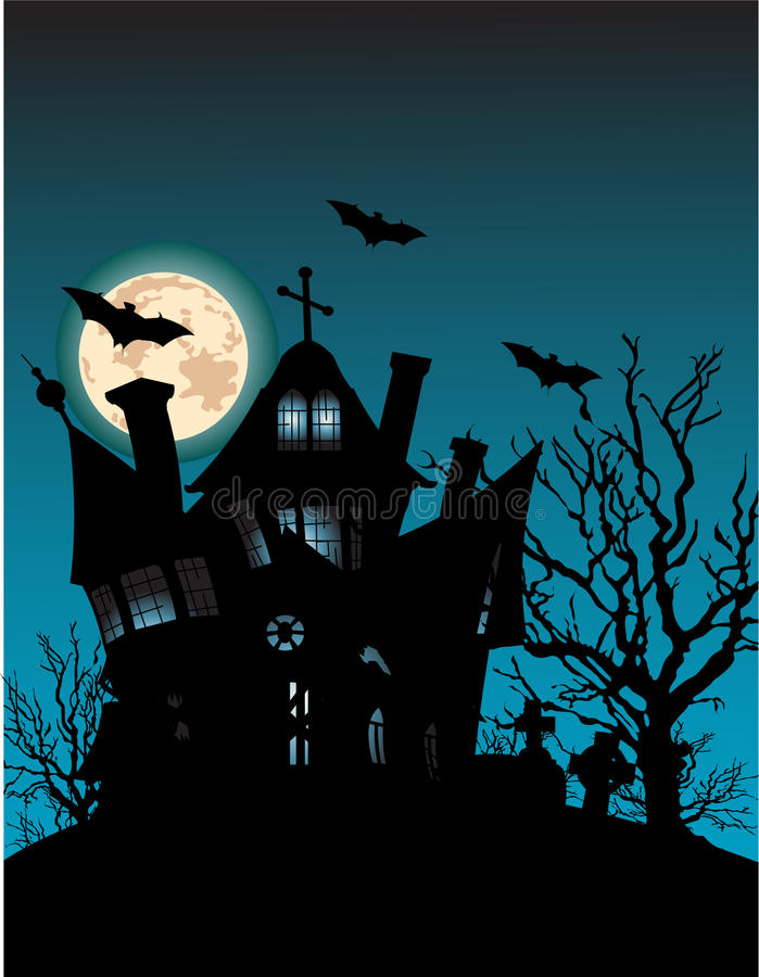 Download Haunted house stock vector. Illustration of spooky, space - 10778940