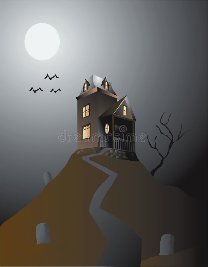 Haunted House royalty free illustration