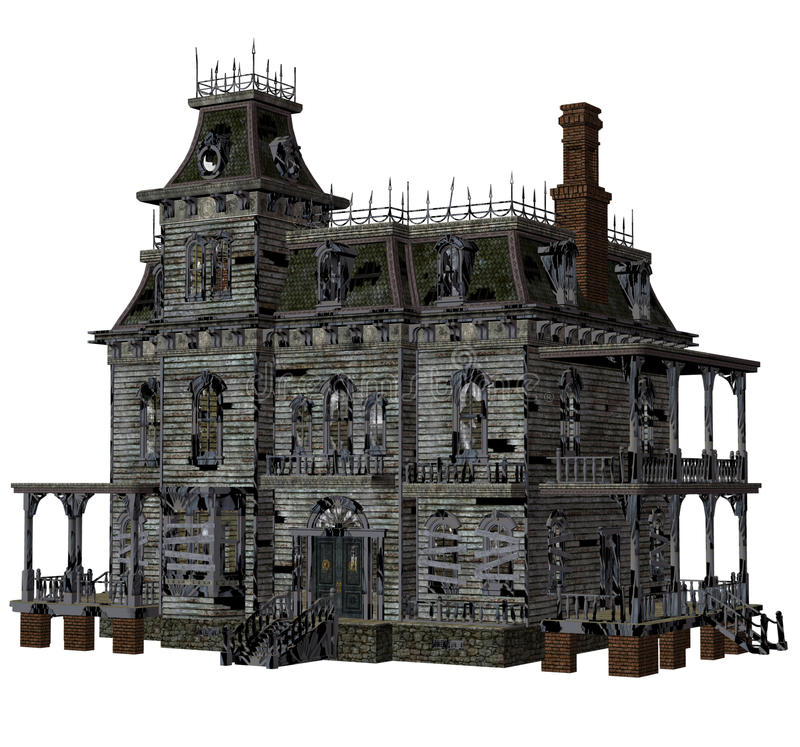 Download Haunted house 2 stock illustration. Image of building - 15853358