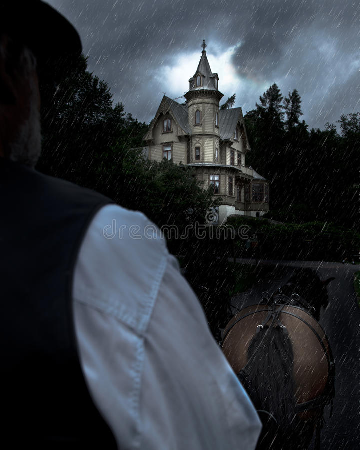 Haunted house royalty free stock photography