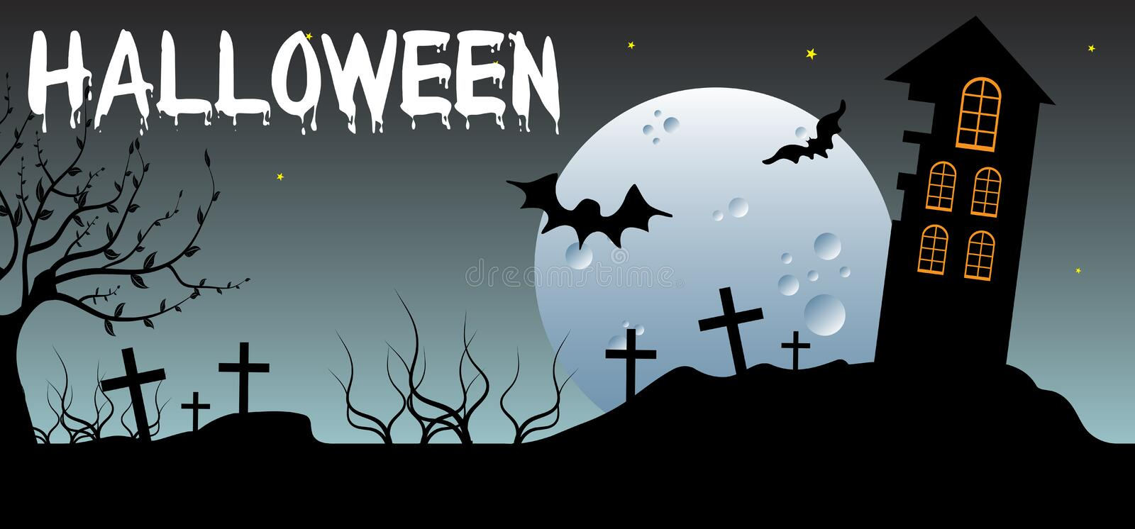 Download Haunted house stock vector. Illustration of celebration - 21289633