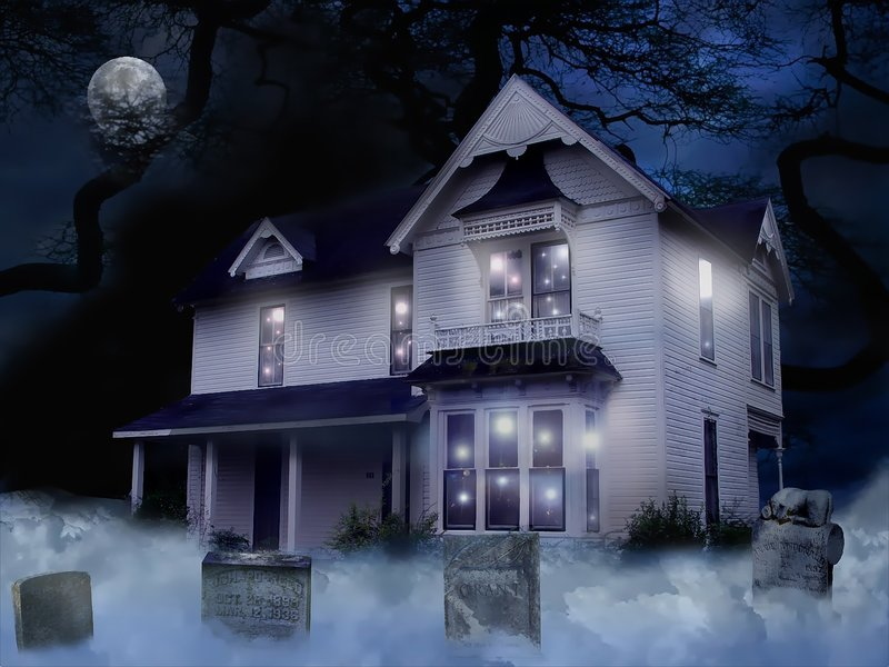 Download Haunted House stock photo. Image of night, eerie, moon - 245840
