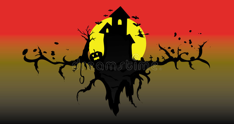 Download Haunted House stock vector. Image of ghosts, haunted, tree - 6708614