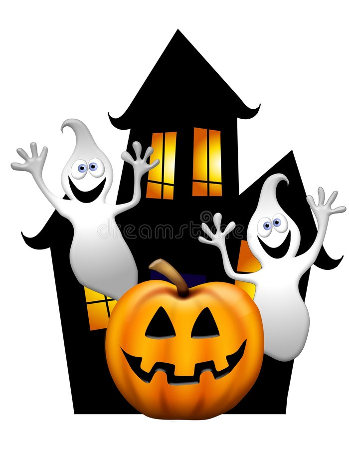 Free Haunted House And Ghosts Stock Image - 5675901