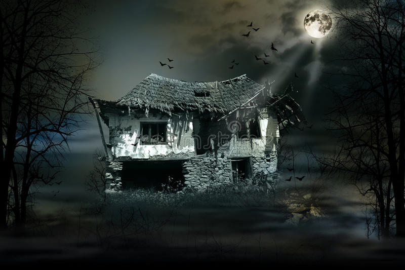 Haunted house. With dark scary horror atmosphere royalty free stock photos