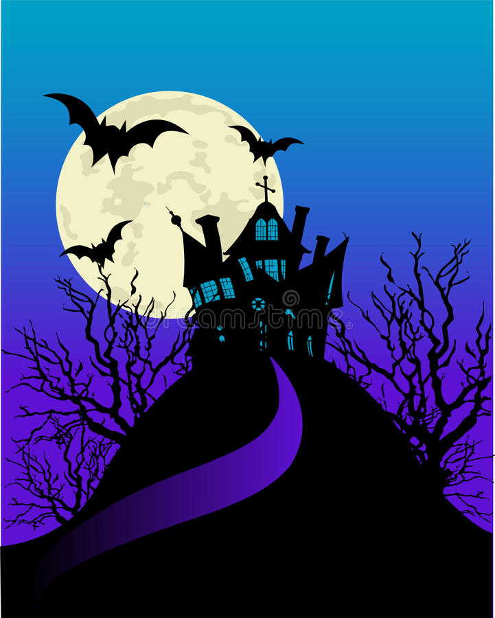 Download Haunted house flayer stock illustration. Image of house - 11442515