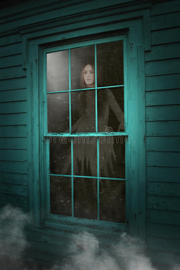 Haunted House Ghost, Dead Woman royalty free stock images