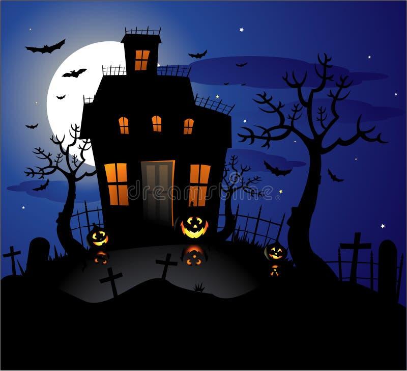 Free Haunted House Halloween Background Stock Photos - 14579443