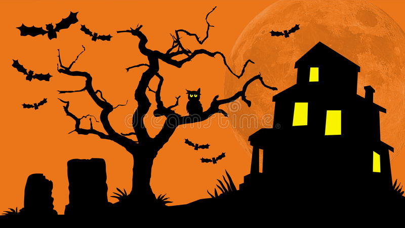 Download Haunted House Hill stock illustration. Image of house - 34807515