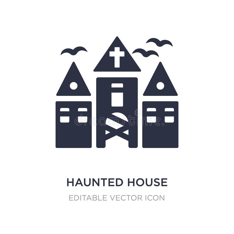 haunted house icon on white background. Simple element illustration from Halloween concept stock illustration