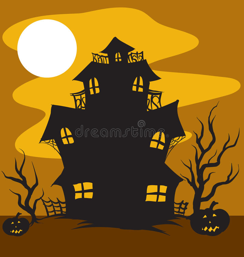 Haunted House. An Illustration of a Haunted House in the moonlight vector illustration
