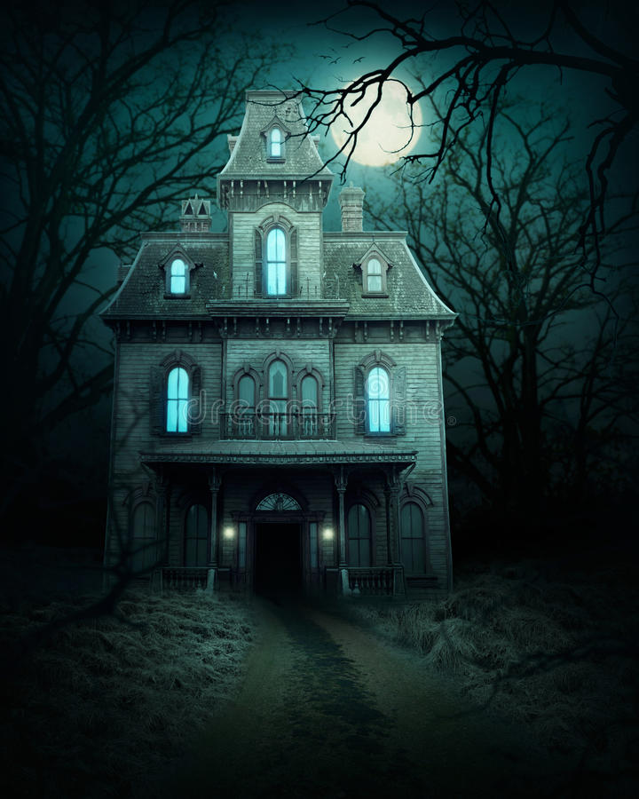 Free Haunted House In Forest Stock Photos - 91313003