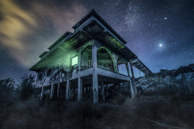 A haunted house stock photography