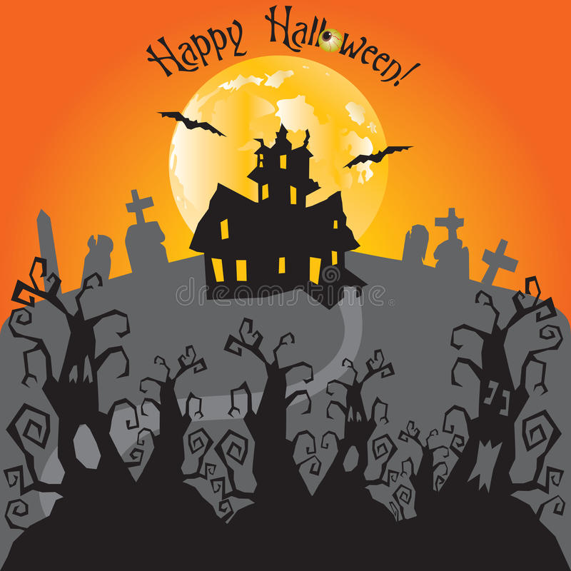 Download Haunted House Party Invitation Stock Vector - Image: 10784504
