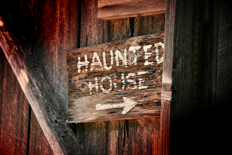 Haunted House Sign royalty free stock image