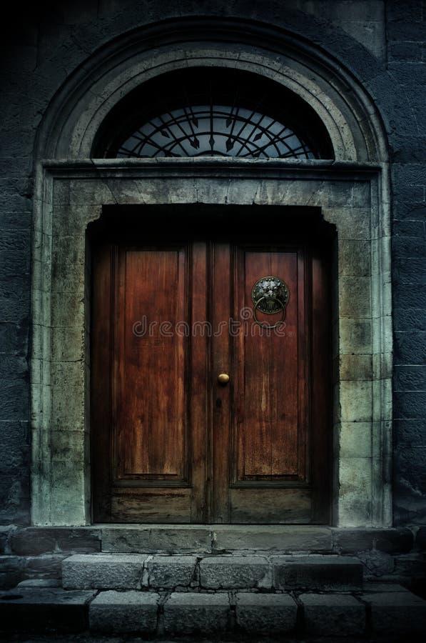 Haunted mansion dark entrance royalty free illustration