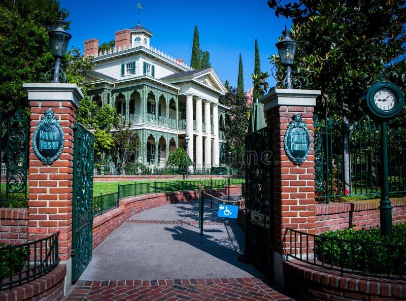 The Haunted Mansion - Disneyland stock photography