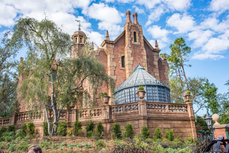 The Haunted Mansion at the Magic Kingdom, Walt Disney World. Orlando, Florida: December 2, 2017: The Haunted Mansion at The Magic Kingdom, Walt Disney World. In royalty free stock image