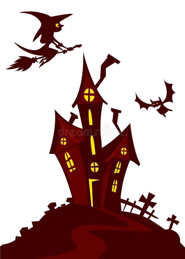 haunted mansion spooky haunted house vector illustration cartoon rh dreamstime com haunted house silhouette vector haunted house victor ny