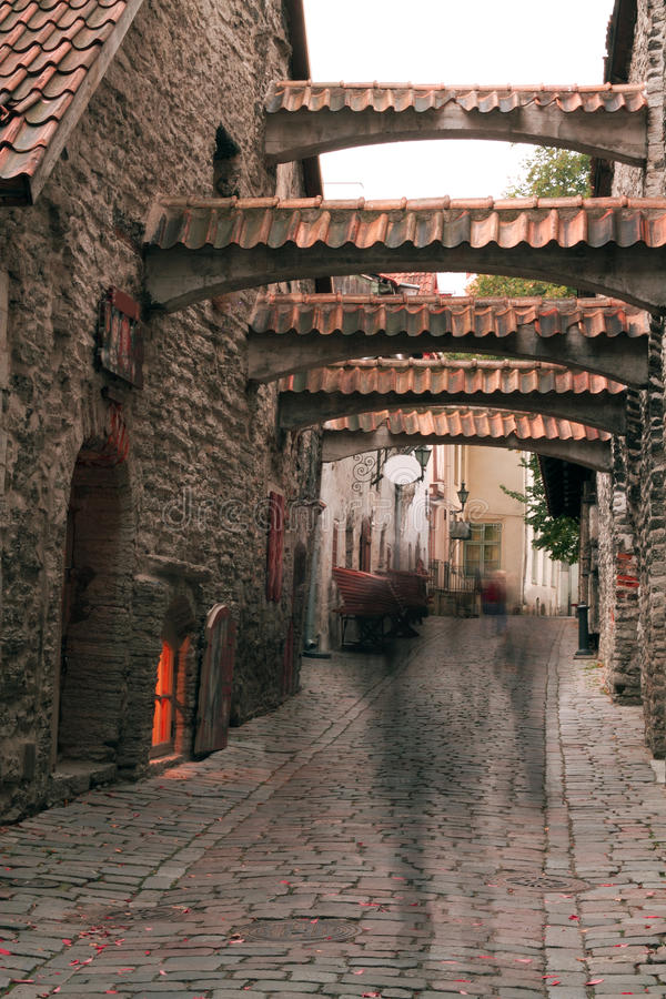 Haunted streets of Tallinn. Landscape stock photos