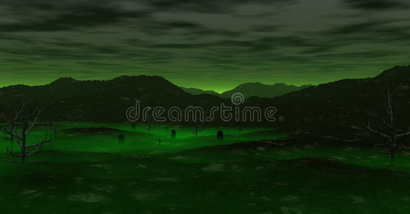 A Haunted Valley royalty free illustration