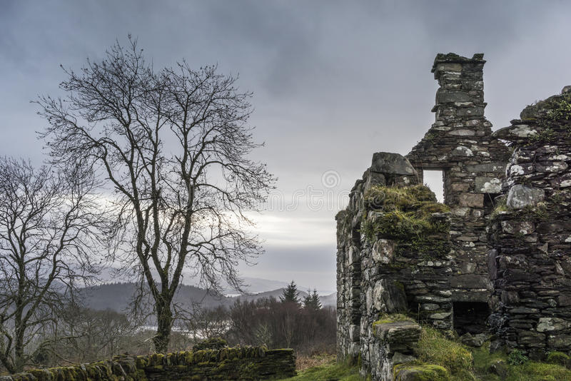 Haunting remains of Arichonan Township in Scotland. Haunting remains of Arichonan Township, a cleared village in the Highlands of Scotland stock image