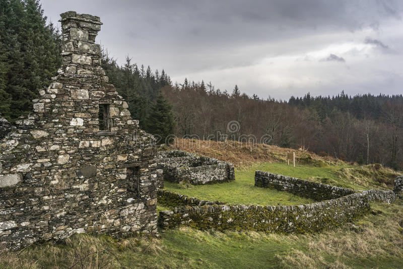 Haunting remains of Arichonan Township in Scotland. Haunting remains of Arichonan Township, a cleared village in the Highlands of Scotland stock images