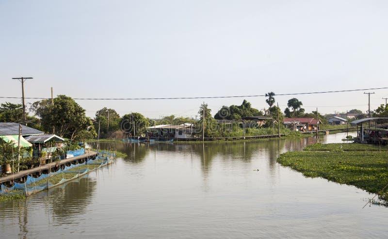 Haupt-andresidence Lebensstil des Flussufers West von Thailand stockfotografie