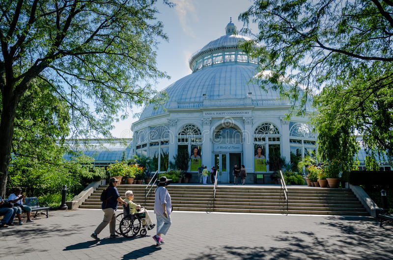 Haupt Conservatory - New York Botanical Garden - New York City stock image