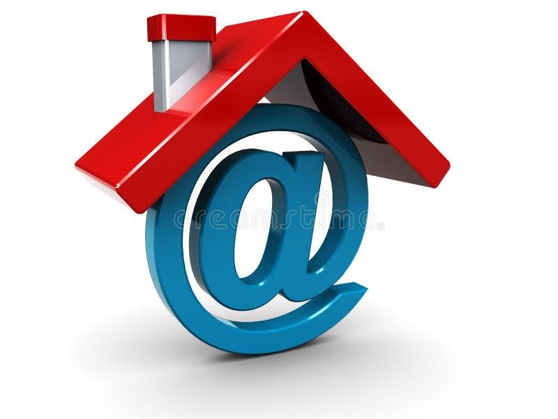Haupt-eMail lizenzfreie abbildung