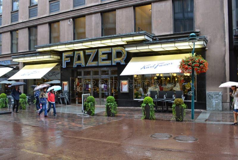 Haupt-Fazer-Café Kluuvikatu Helsinki Finnland lizenzfreies stockbild