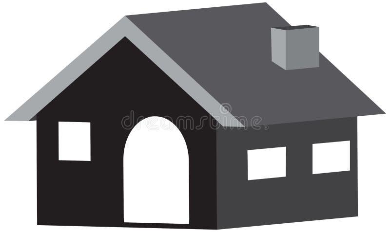 Haupt-Ikone 3D im Design in einem weißen Hintergrund lizenzfreies stockfoto