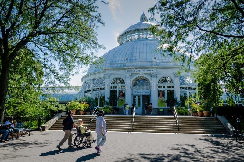 Haupt-Konservatorium - botanischer Garten New York - New York City stockbild