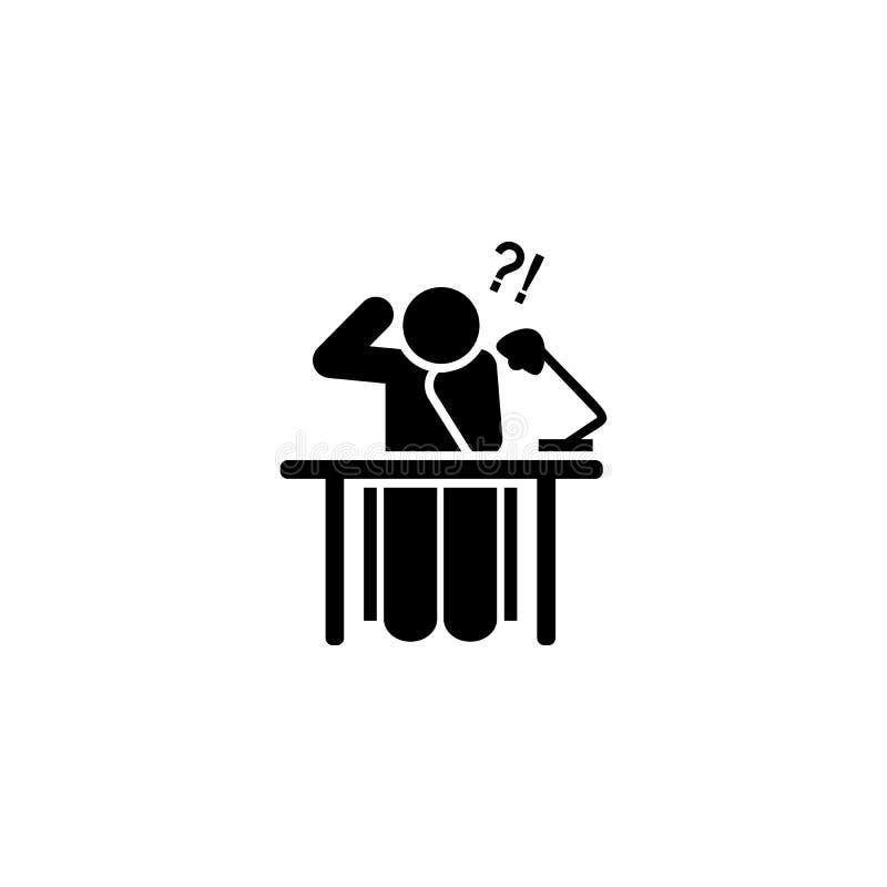 Haupt, müde, gelesen, Buchikone Element der Ausbildungspiktogrammikone Erstklassige Qualit?tsgrafikdesignikone Zeichen und Symbol vektor abbildung