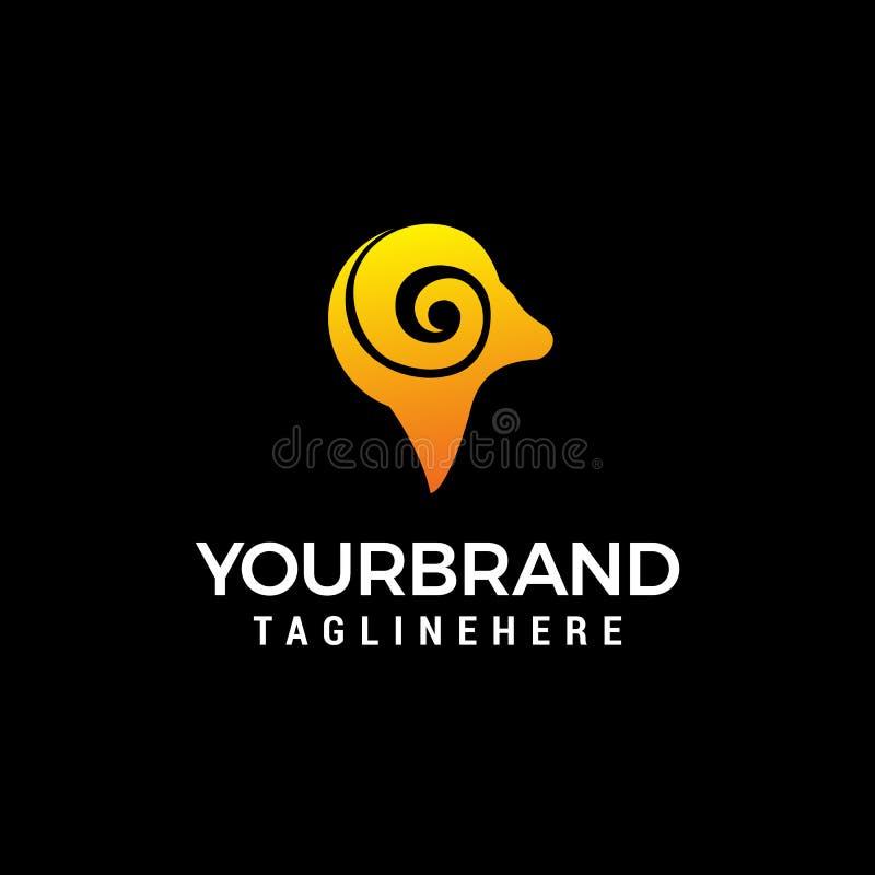 Haupt-RAM-LogoKonzept- des Entwurfesschablone lizenzfreie abbildung