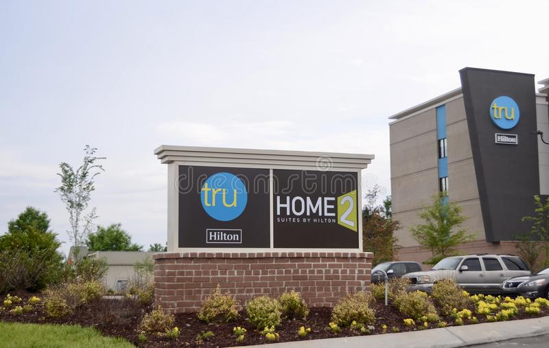 Haupt-Tru-Reihen-Hotel durch Hilton, Murfreesboro, TN stockfoto