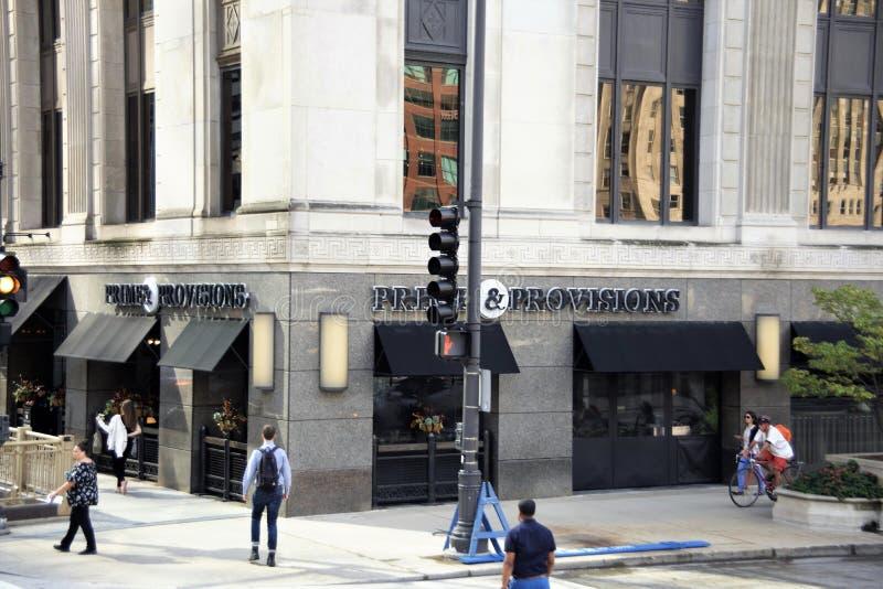 Haupt- und Bestimmungen Steakhouse, Chicago, Illinois stockfoto