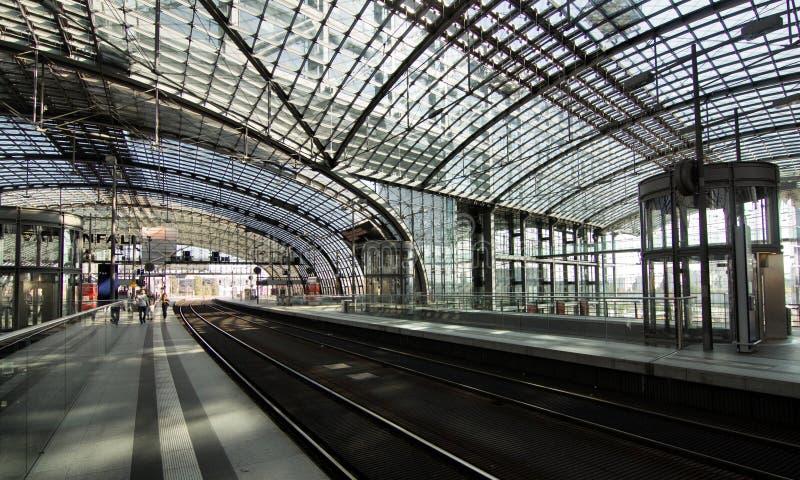Hauptbahnhof в Берлин стоковое фото