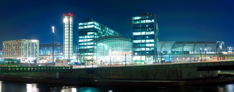 Hauptbahnhof berlin, germany stock photography
