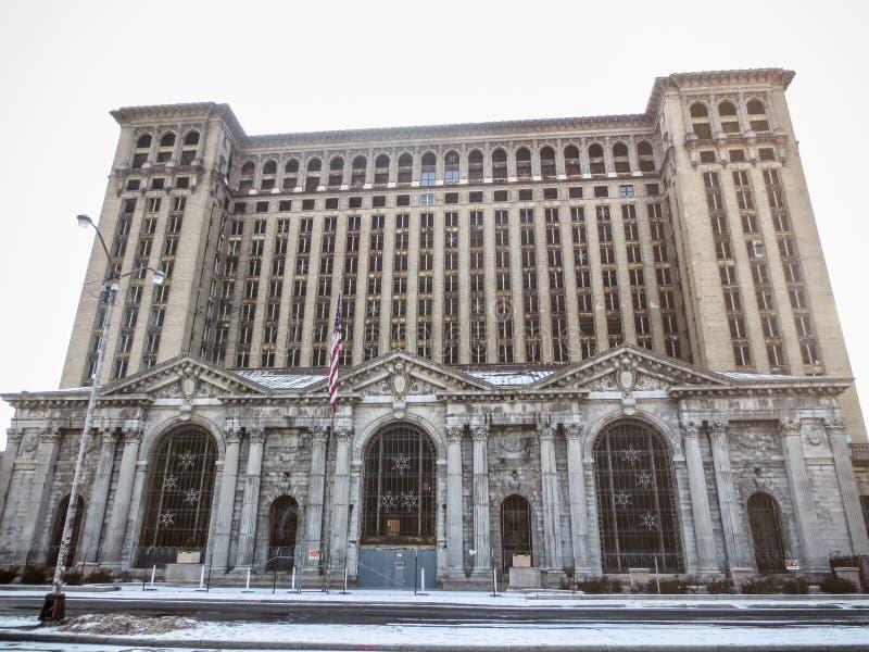 Hauptbahnhof Detroits Michigan stockbilder