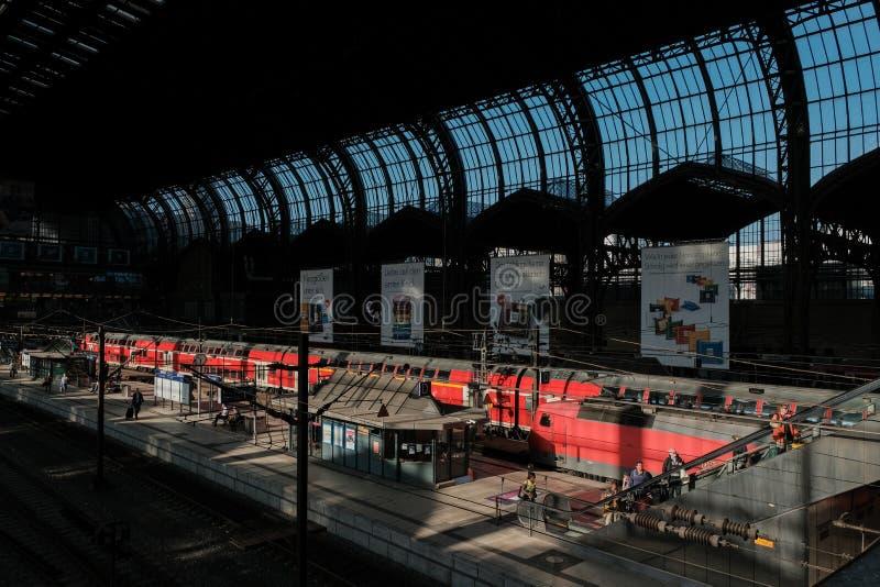 Hauptbahnhof Hamburgs, Deutschland, Hamburg vom Innere lizenzfreies stockbild