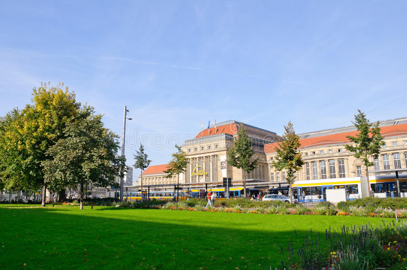 Hauptbahnhof - Leipzig, Duitsland royalty-vrije stock foto