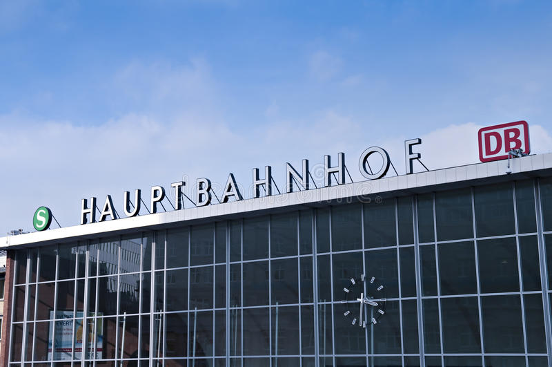 Hauptbanhof royalty free stock photography