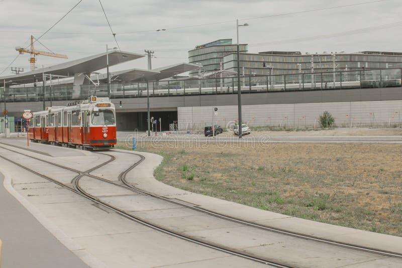 Hauptbanhof Station, Vienna, Austria, Discover, Holidays, City, Break, Escape, Enjoy, Travel, Train. Hauptbanhof Station, Vienna, Austria, Discover, Holidays stock images